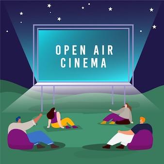 Divertissement de cinéma en plein air