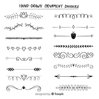 Diviseurs dessinés à la main