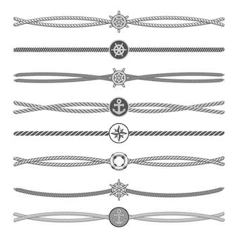 Diviseurs vectoriels de cordes marines et frontières