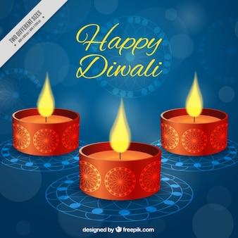 Diwali bougie fond