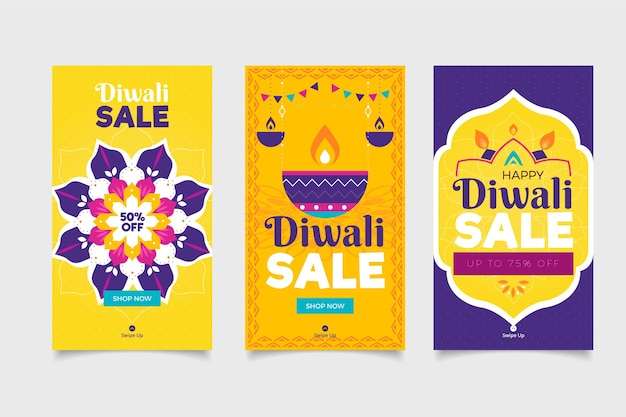 Diwali celebration sale instagram stories