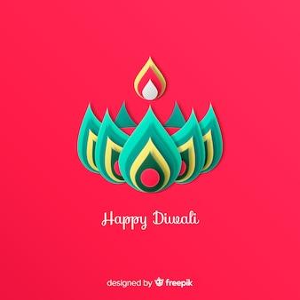 Diwali décoré fond dans le style de papier