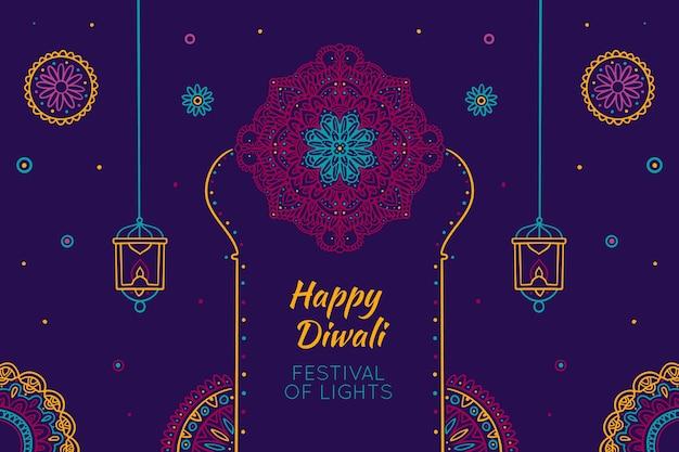 Diwali dessiné à la main
