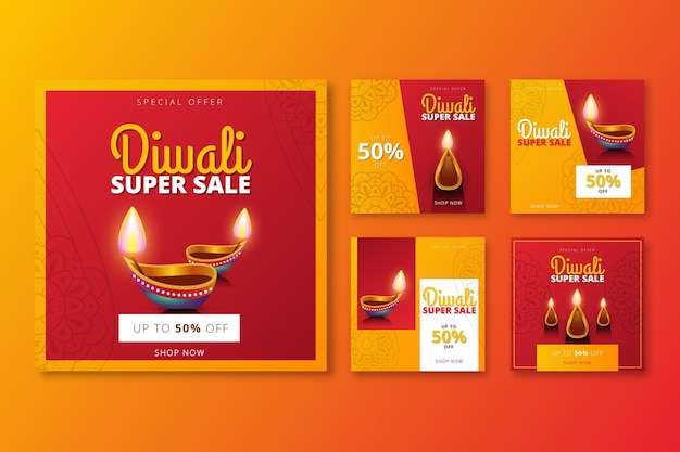 Diwali event sale instagram story collection