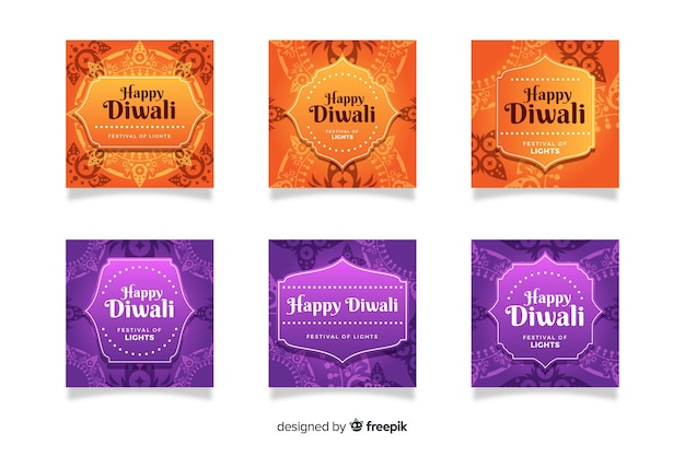 Diwali festival instagram post collection