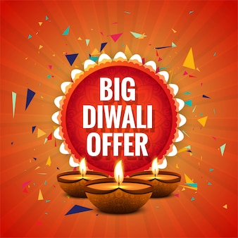 Diwali festival offre une grande conception de modèle de fond de vente