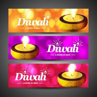Diwali heureux avec design créatif et vecteur de typographie