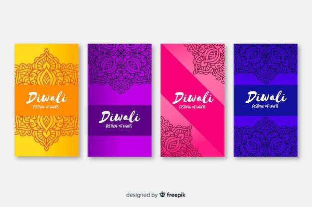 Diwali histoires de médias sociaux diwali instagram histoires