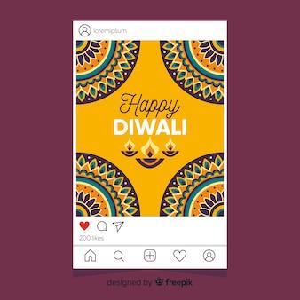 Diwali instagram histoires et options de plate-forme