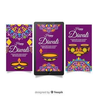 Diwali instagram pack d'histoires