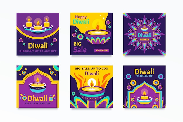 Diwali instagram sale post collection