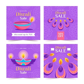 Diwali instagram sale post pack