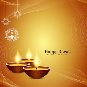 Diwali joyeux jaune vif religieux