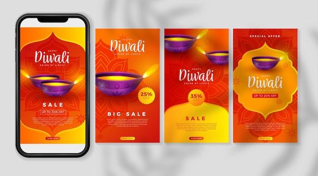 Diwali sale collection d'histoires instagram