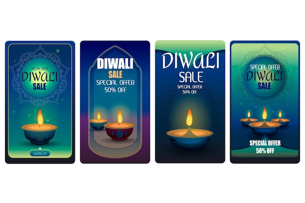 Diwali sale instagram stories