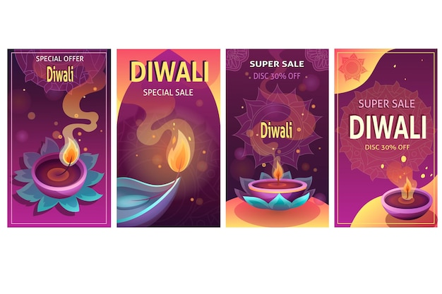 Diwali sale instagram story collection