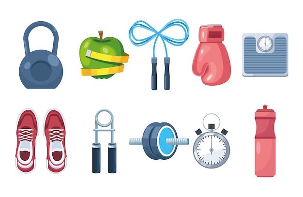 Dix appareils de fitness