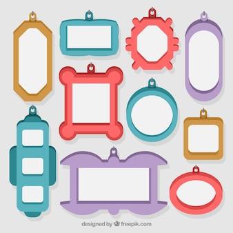 Dix cadres avec des couleurs différentes