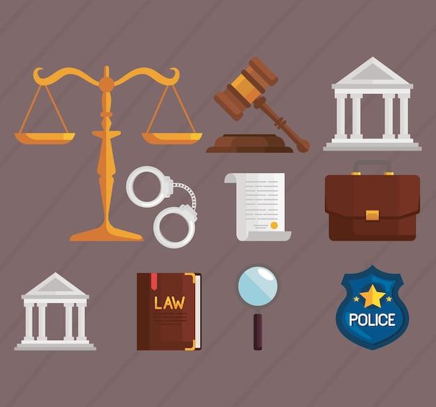 Dix icônes de droit et de justice