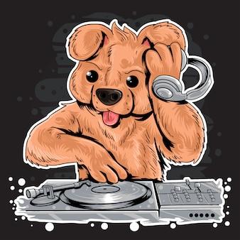 Dj teddy bear house music party