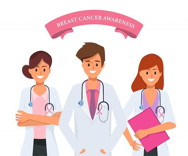 Docteur concept journée internationale du cancer du sein.