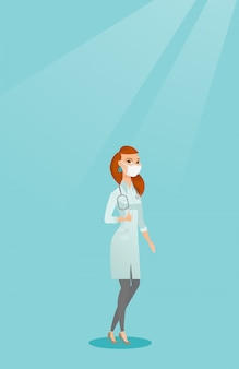 Docteur donnant le pouce en haut illustration vectorielle.
