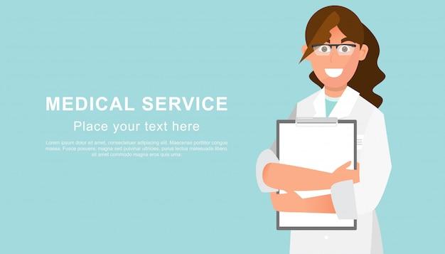 Docteur, fin, haut, copie, espace, texte