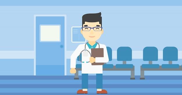 Docteur avec illustration vectorielle de fichier.
