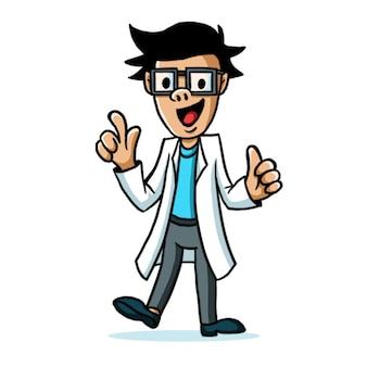 Docteur mad mascot design