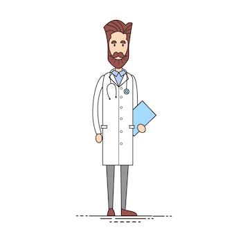 Docteur en médecine avec analyse de documents