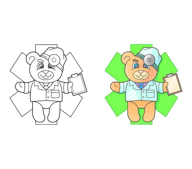 Docteur ours en peluche