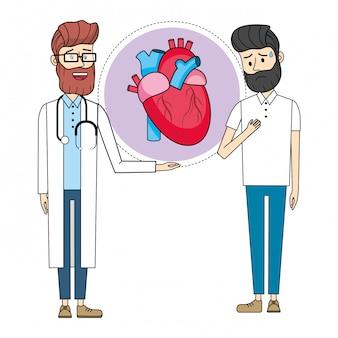 Docteur avec patient