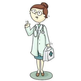 Docteur, tenue, médecine, coffre