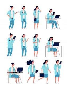 Doctoresse. femme, travailleur médical, gestionnaire de la santé, bon spécialiste des soins de santé, hôpital