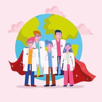 Doctos infirmières super-héros