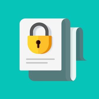 Document commercial confidentiel verrouillé sécurisé en tant qu'idée d'accord de non-divulgation ou accès d'autorisation