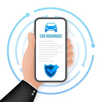 Document de contrat d'assurance. icône de bouclier. protection. illustration vectorielle de stock.
