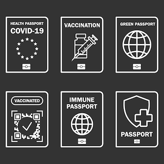 Document d'immunité de voyage certificat d'immunité covid19 pour voyager ou faire du shopping en toute sécurité