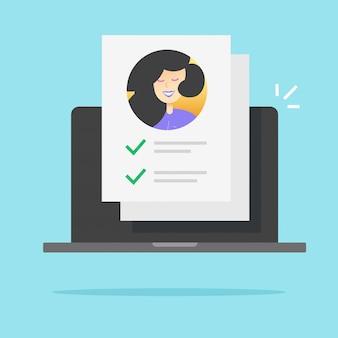 Document de liste de contrôle du formulaire d'identité papier en ligne
