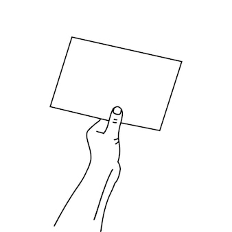 Document papier linéaire en contour dessiné à la main humaine simple conception d'art graphique en ligne mince isolé sur wh...
