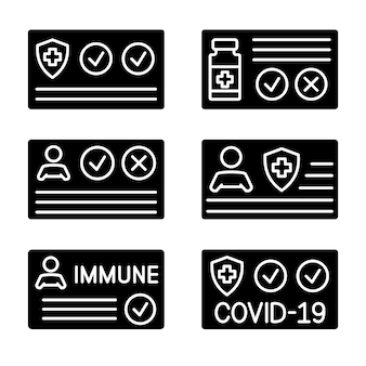 Document pour montrer qu'une personne a été vaccinée avec le vaccin covid19