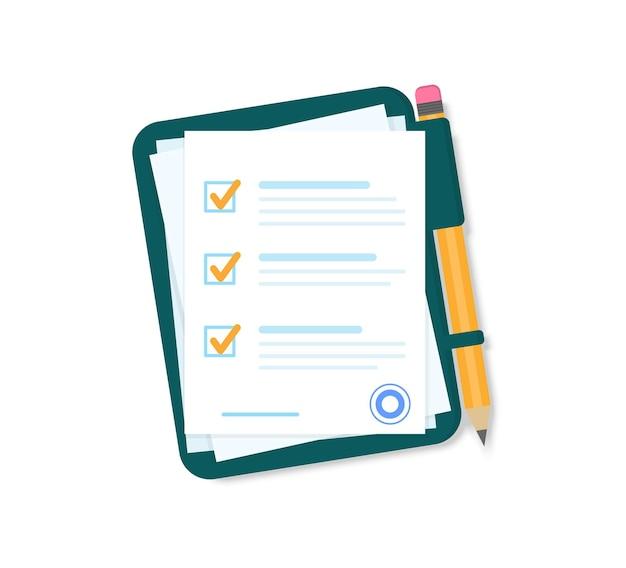 Documents avec un crayon sur un dossier vert.