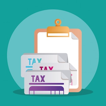 Documents de documents fiscaux