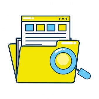 Documents de dossiers numériques de technologie