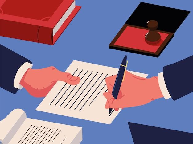 Documents juridiques notariés