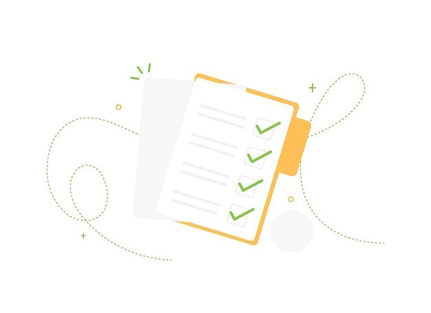 Documents de liste de tâches terminés dans le dossier