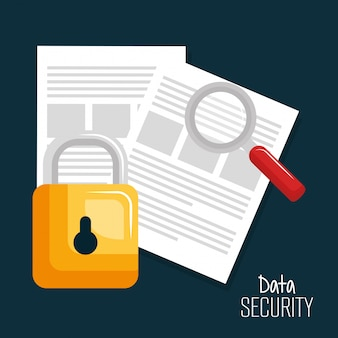 Documents verrouillage technologie données sécurité numérique conception