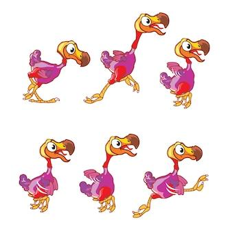Dodo bird cartoon animation sprite