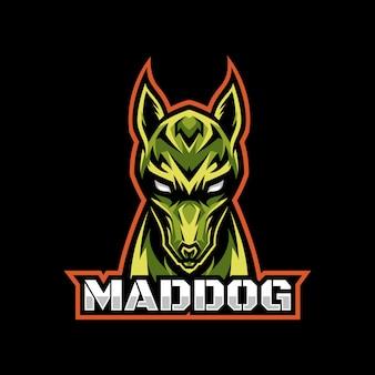 Dog head gaming logo esport