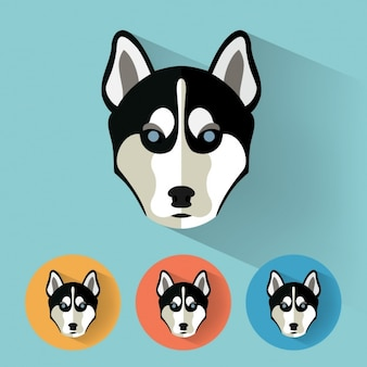 Dog icons collection